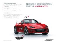 2016 Mazda Miata MX-5 With BOSE Audio System