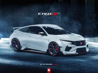 2017 Honda Civic Coupe Type R Render