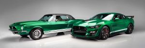 2020 Mustang Shelby Green Hornet and Little Red