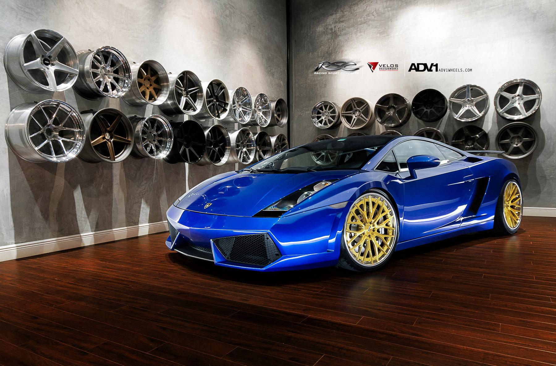 ADV.1 колеса Lamborghini Gallardo ADV10.0TS SL Gold Edition  - фотография №4