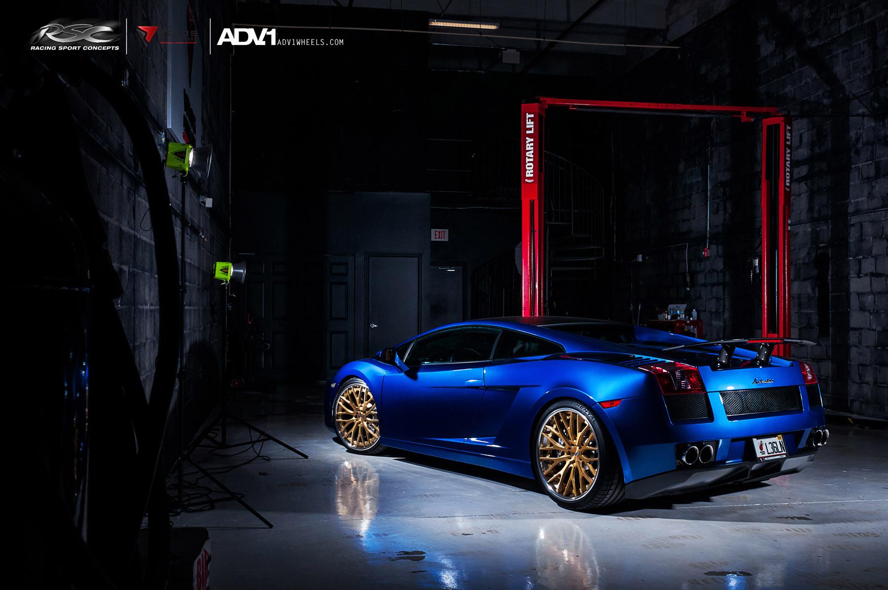 ADV.1 колеса Lamborghini Gallardo ADV10.0TS SL Gold Edition  - фотография №6