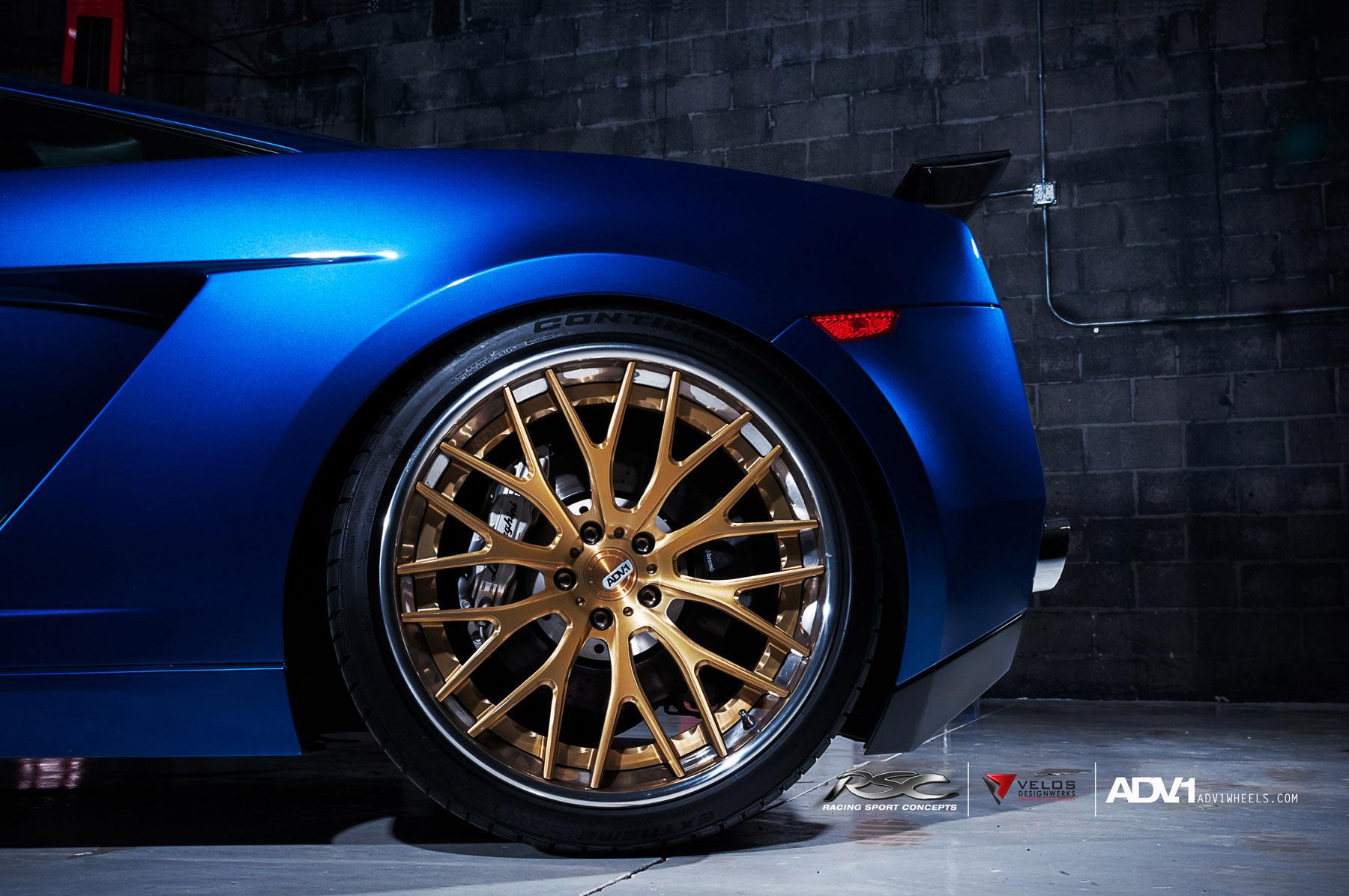 ADV.1 колеса Lamborghini Gallardo ADV10.0TS SL Gold Edition  - фотография №7