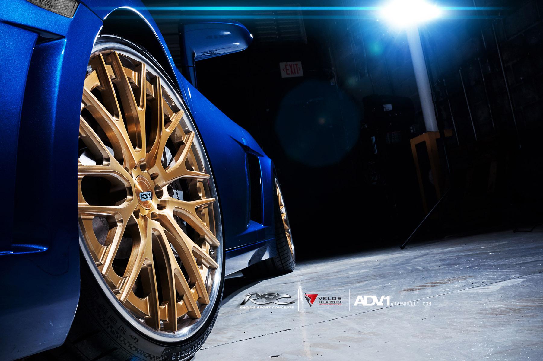 ADV.1 колеса Lamborghini Gallardo ADV10.0TS SL Gold Edition  - фотография №10