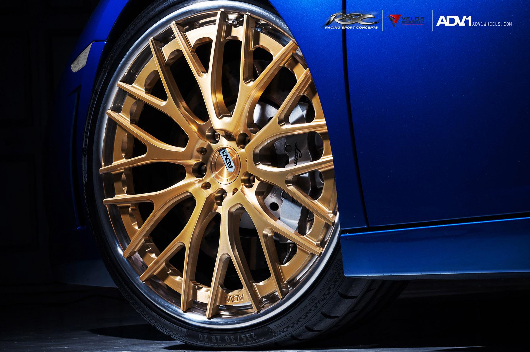 ADV.1 колеса Lamborghini Gallardo ADV10.0TS SL Gold Edition  - фотография №11