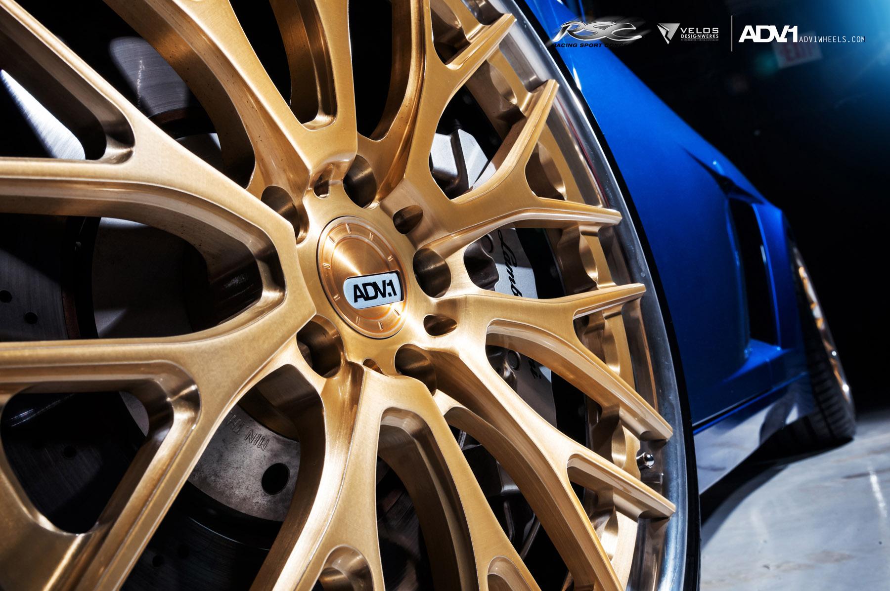 ADV.1 колеса Lamborghini Gallardo ADV10.0TS SL Gold Edition  - фотография №12