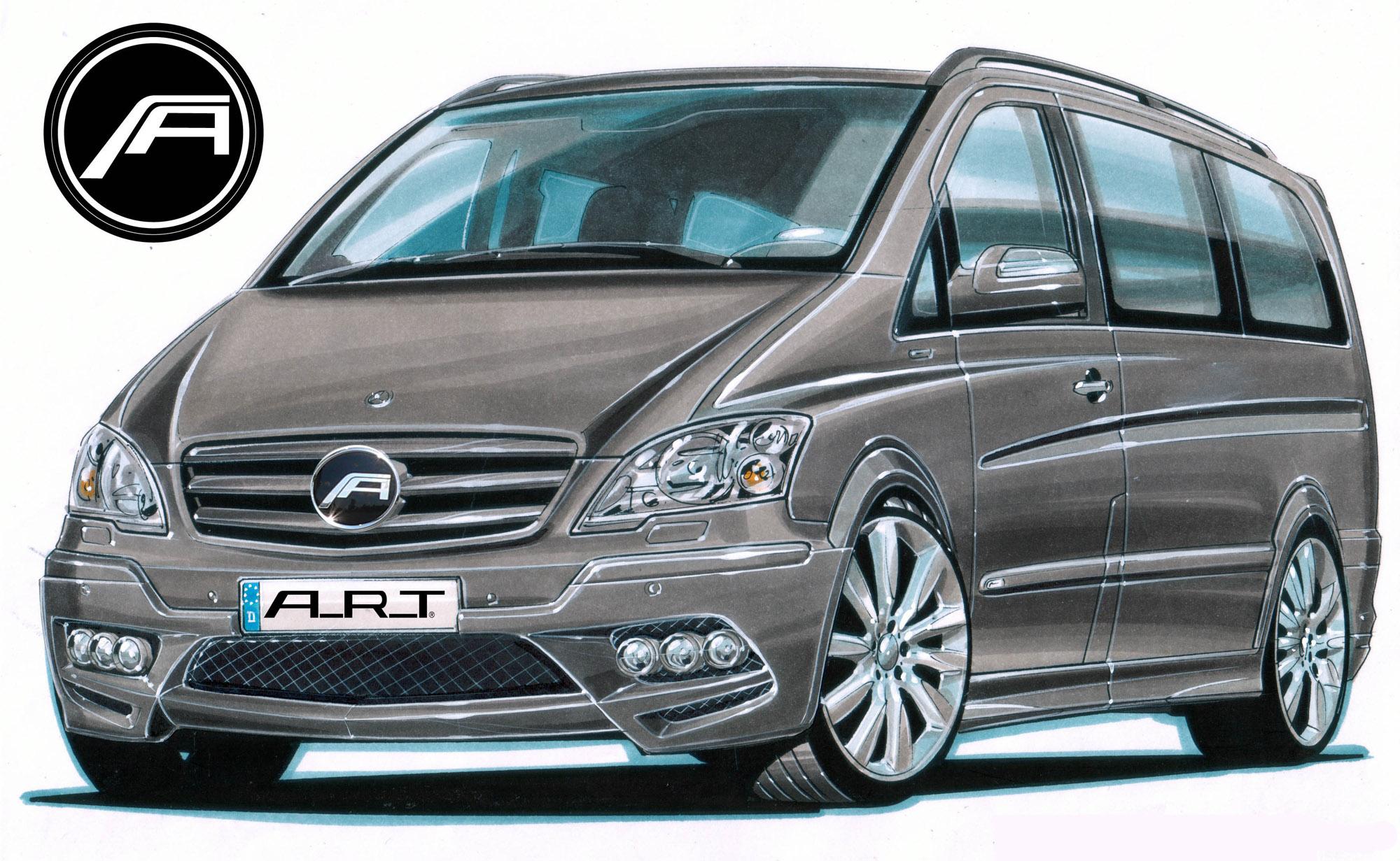 А. Р. Т тюнинг beutifies Mercedes-Benz Viano - фотография №1
