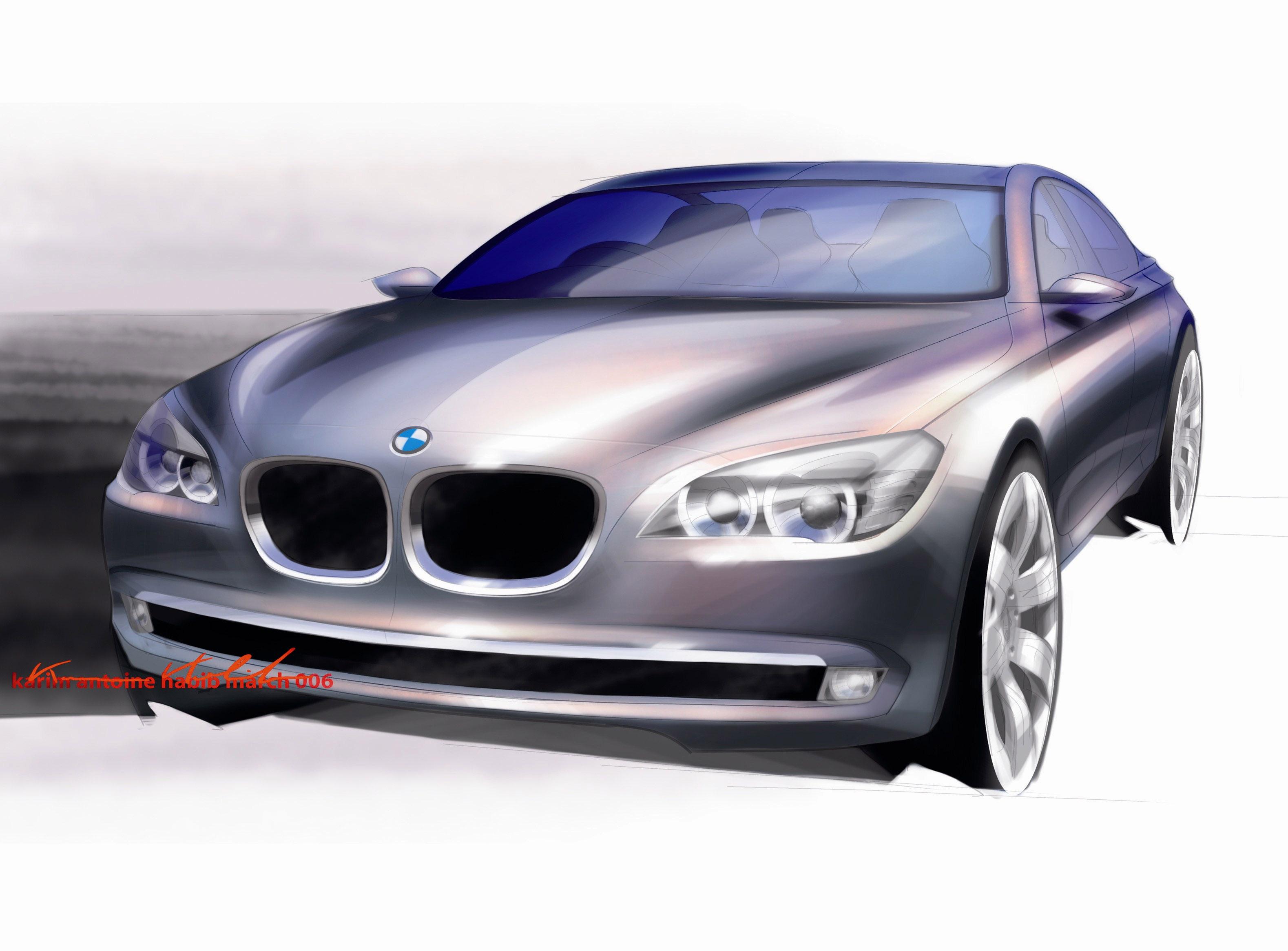 Пятое поколение BMW 7 серии влезает в крышку - фотография №18