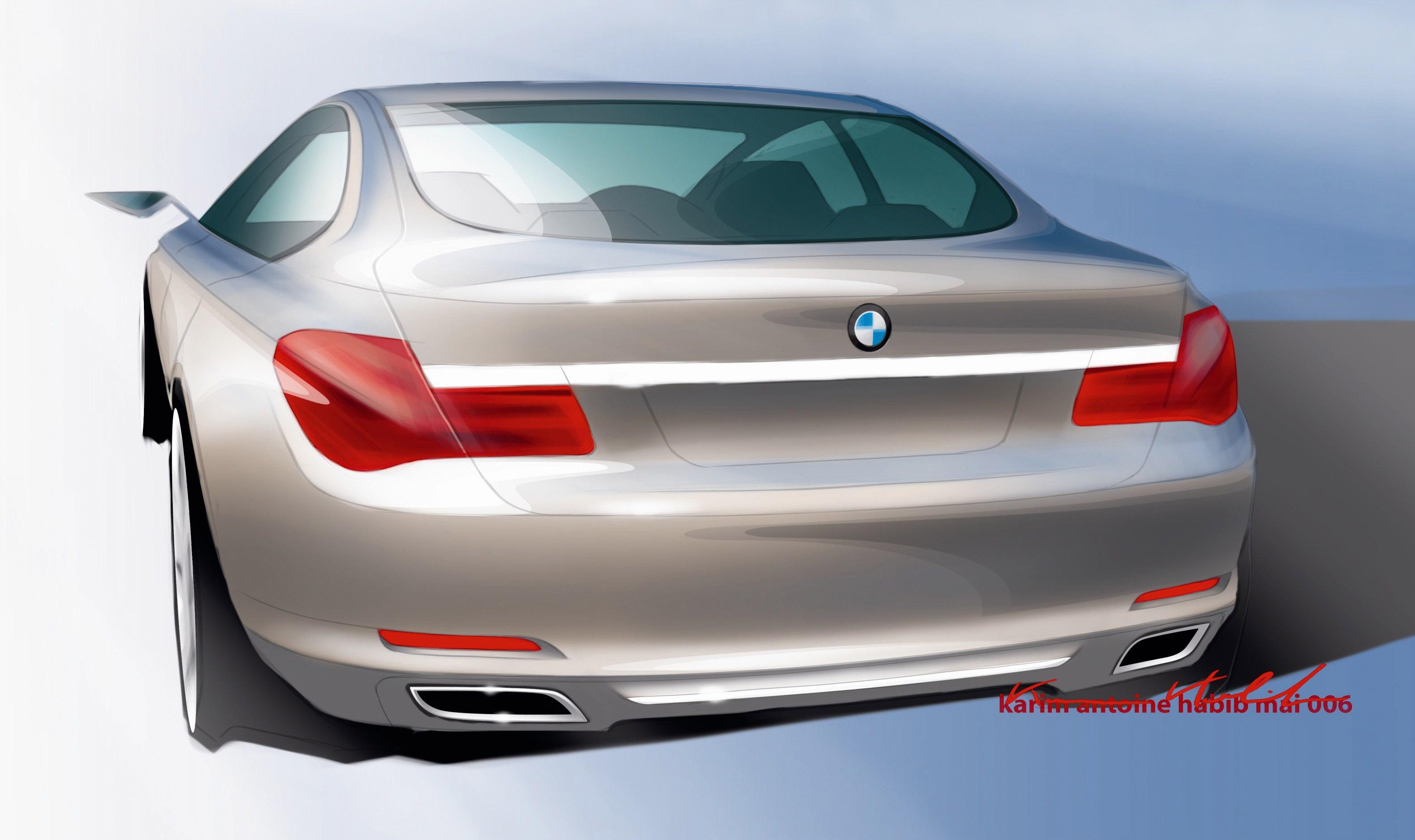 Пятое поколение BMW 7 серии влезает в крышку - фотография №19
