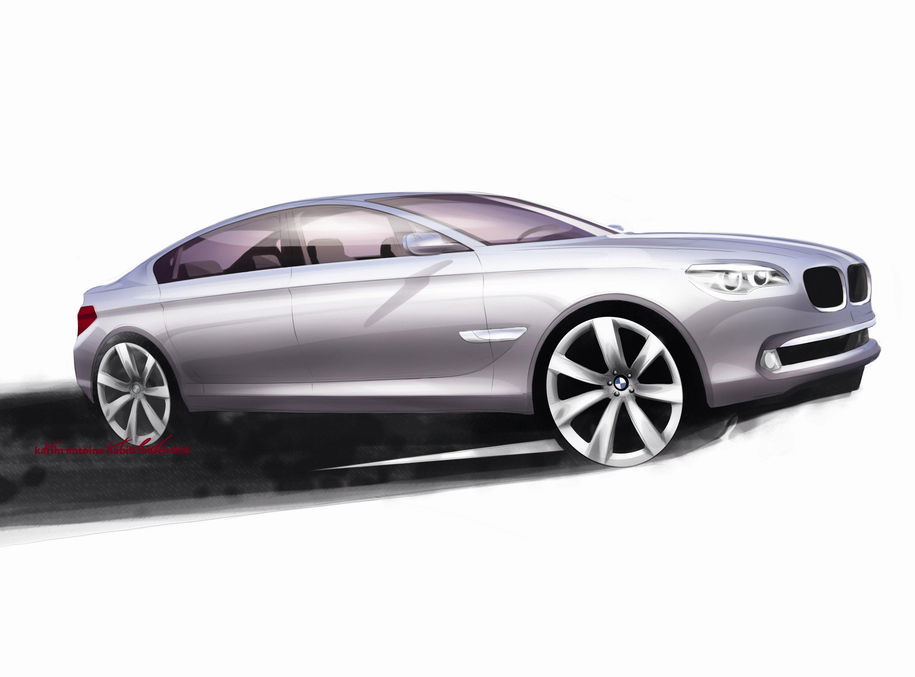 Пятое поколение BMW 7 серии влезает в крышку - фотография №26