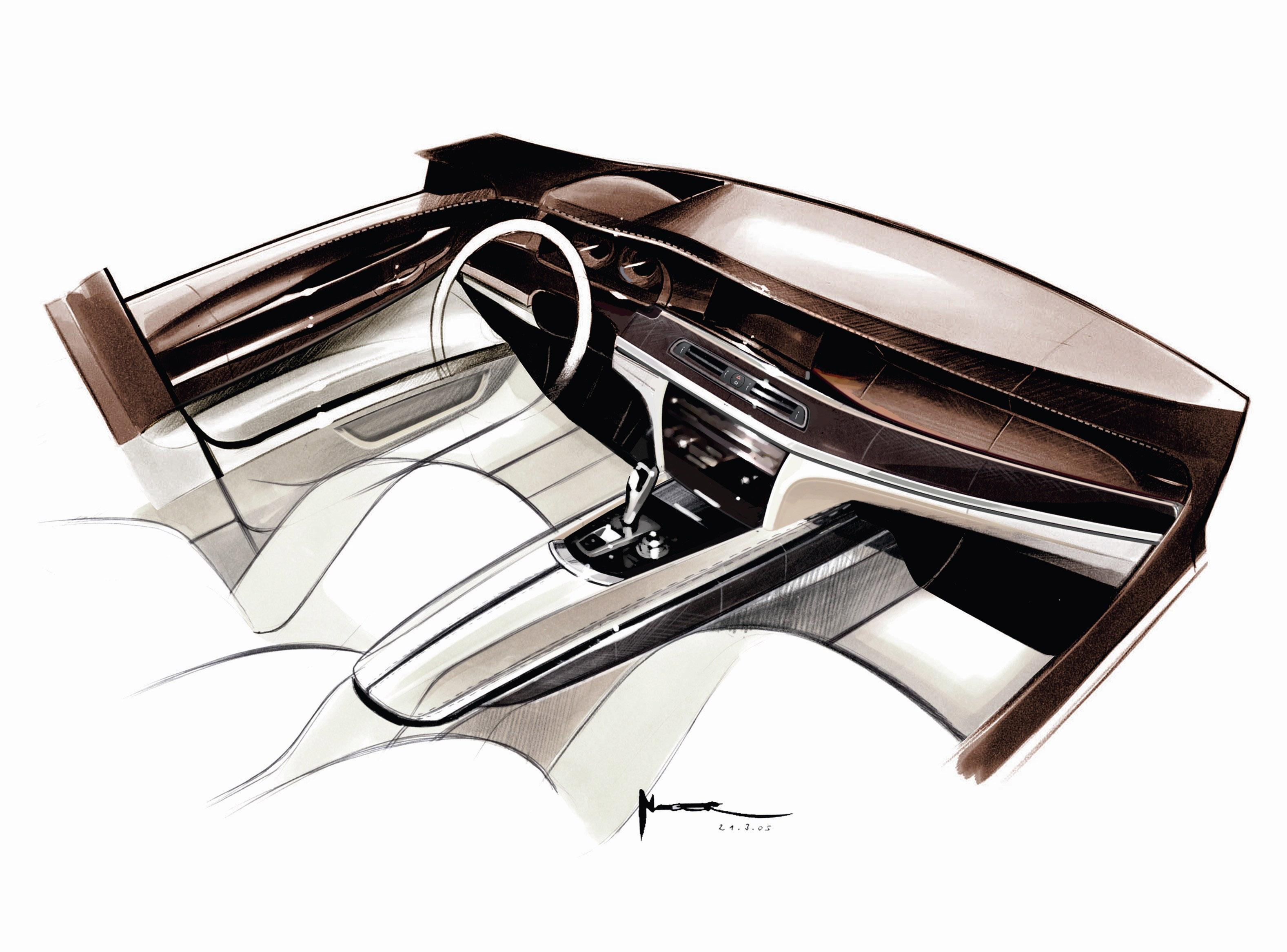Пятое поколение BMW 7 серии влезает в крышку - фотография №28