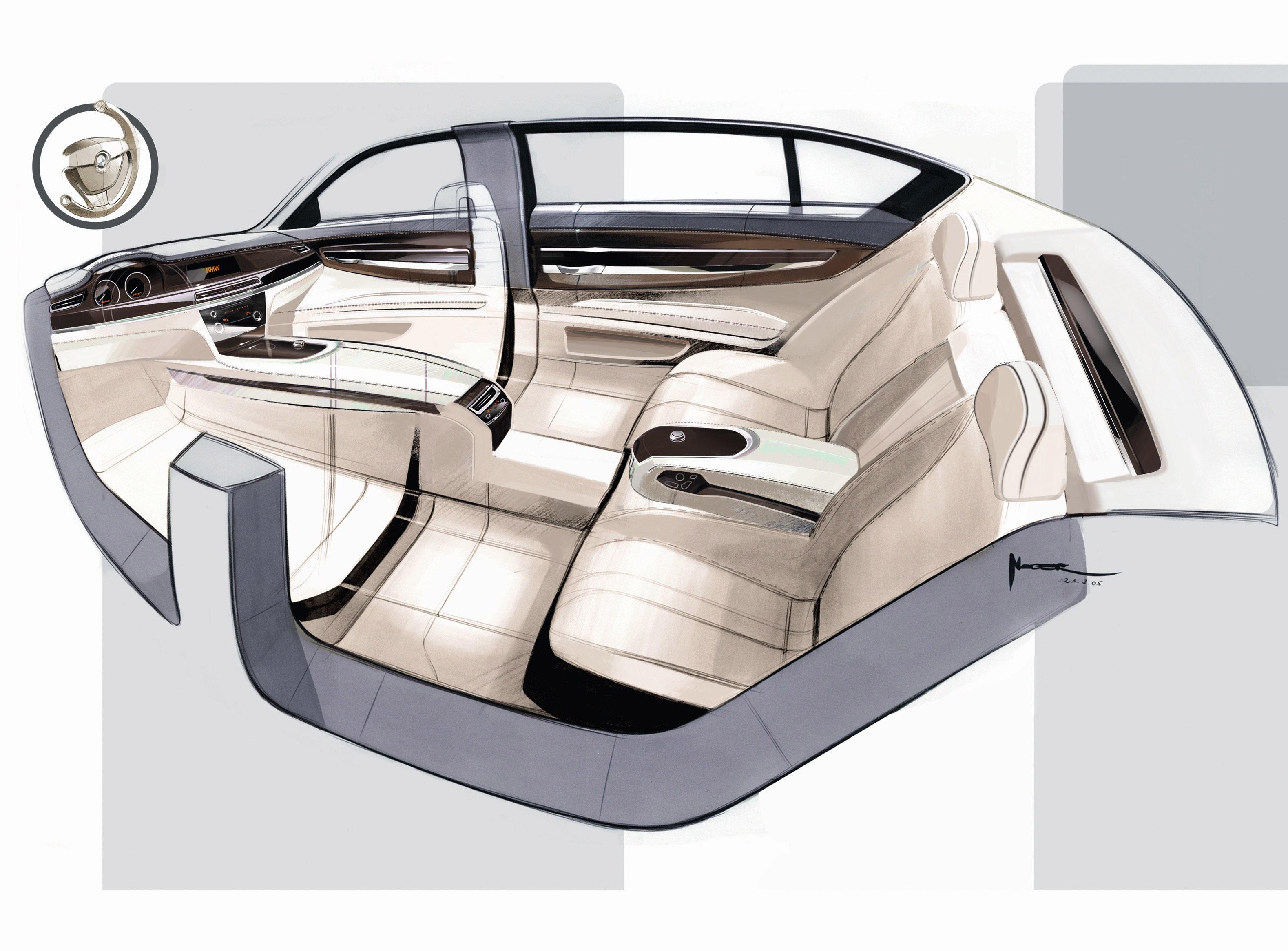 Пятое поколение BMW 7 серии влезает в крышку - фотография №29