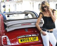 Elle Macpherson and Fiat 500C