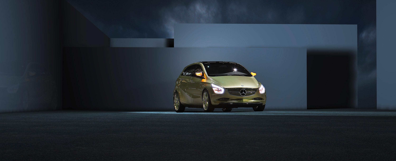Mercedes-Benz Concept BlueZERO: три раза доказательством повседневная практичность нулевым уровнем выбросов транспортных средств - фотография №14