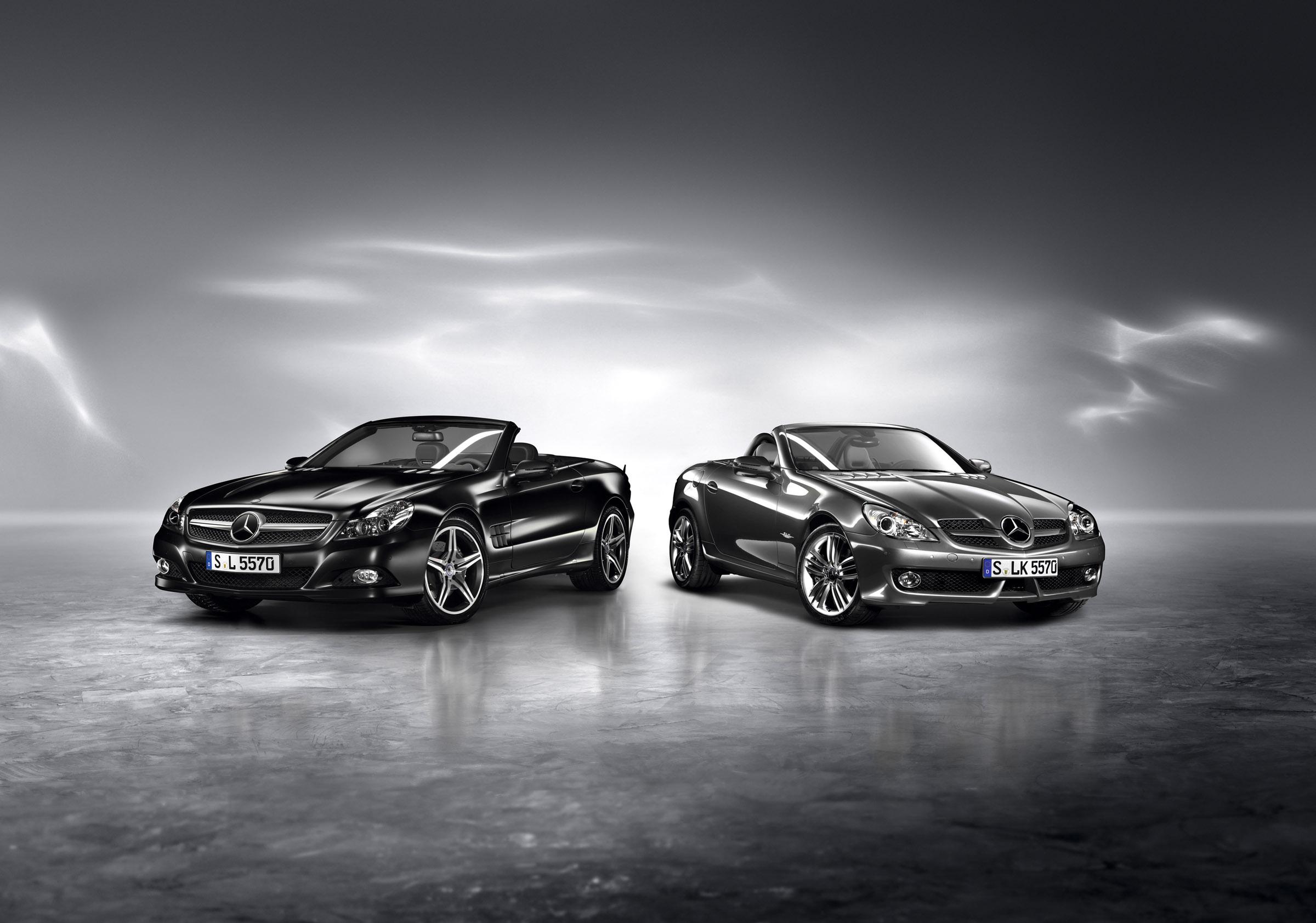 Mercedes-Benz представила SL Night Edition и SLK Grand Edition родстеров - фотография №3