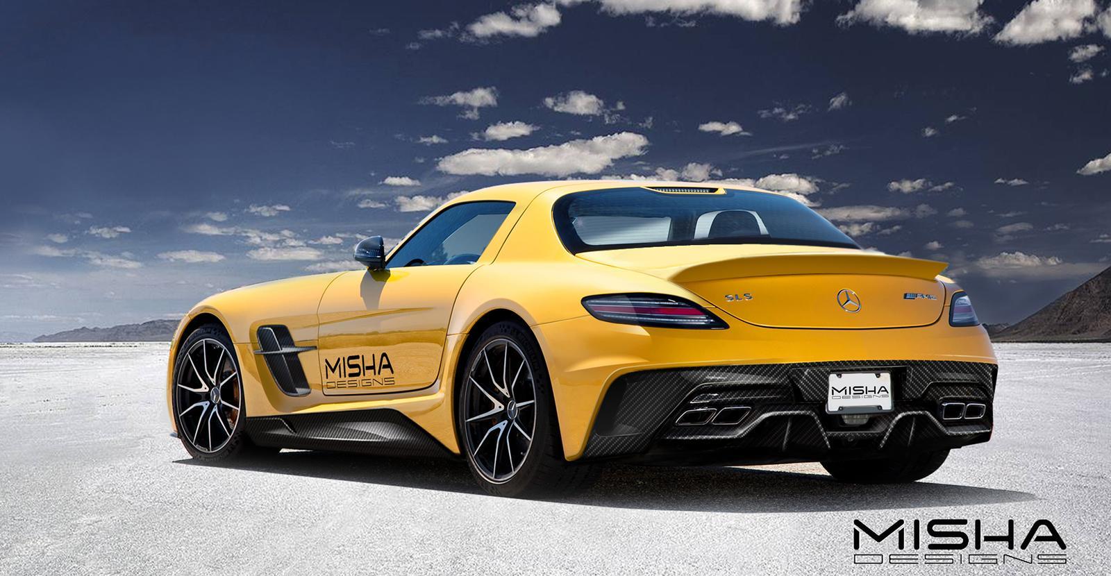 Миша дизайн Mercedes-Benz SLS AMG [preview] - фотография №3
