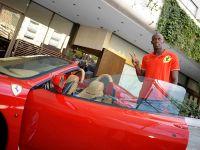 Usain Bolt in Ferrari F430 Spider